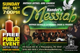 FREE Handel's Messiah Is Dec 16 at 7pm at Mother Bethel