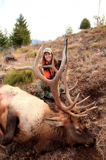 Jana Waller and her Rocky Mountain Halloween elk