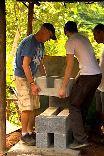 Installing safe,  clean burning cook stoves in Guatemala