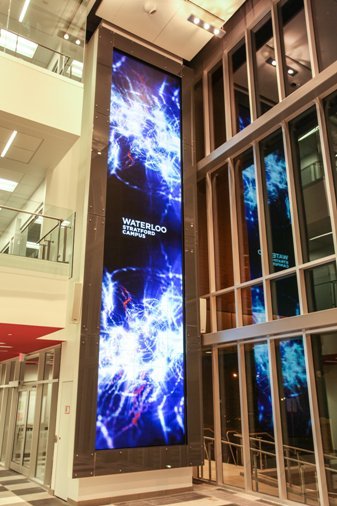 Christie MicroTiles Light up University of Waterloo's Stratford Campus