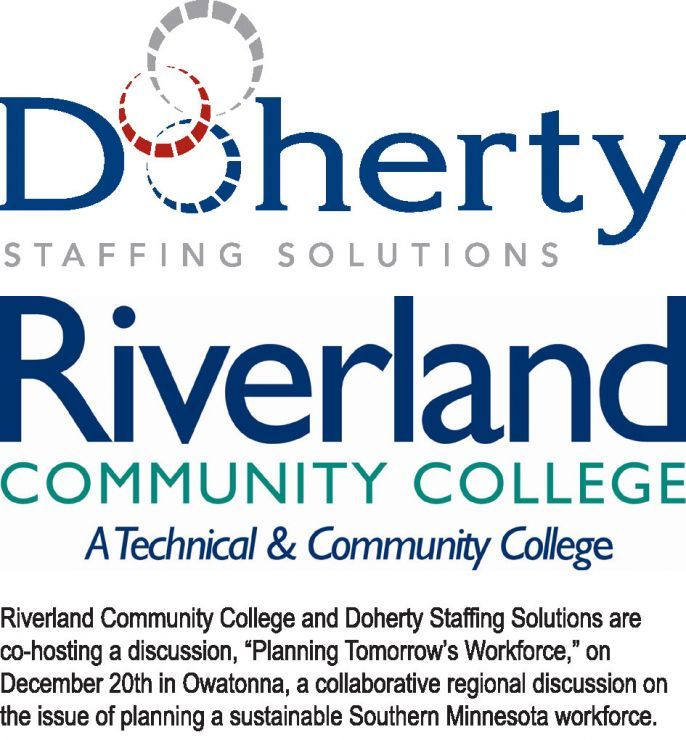 Riverland Community College & Doherty Staffing co-hosting skills gap discussion