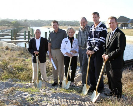 Officials hold a groundbreaking ceremony on Dec. 6th in Beverly Beach, FL.
