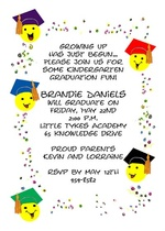 Little Tots Graduation Invitation Announcement Cards