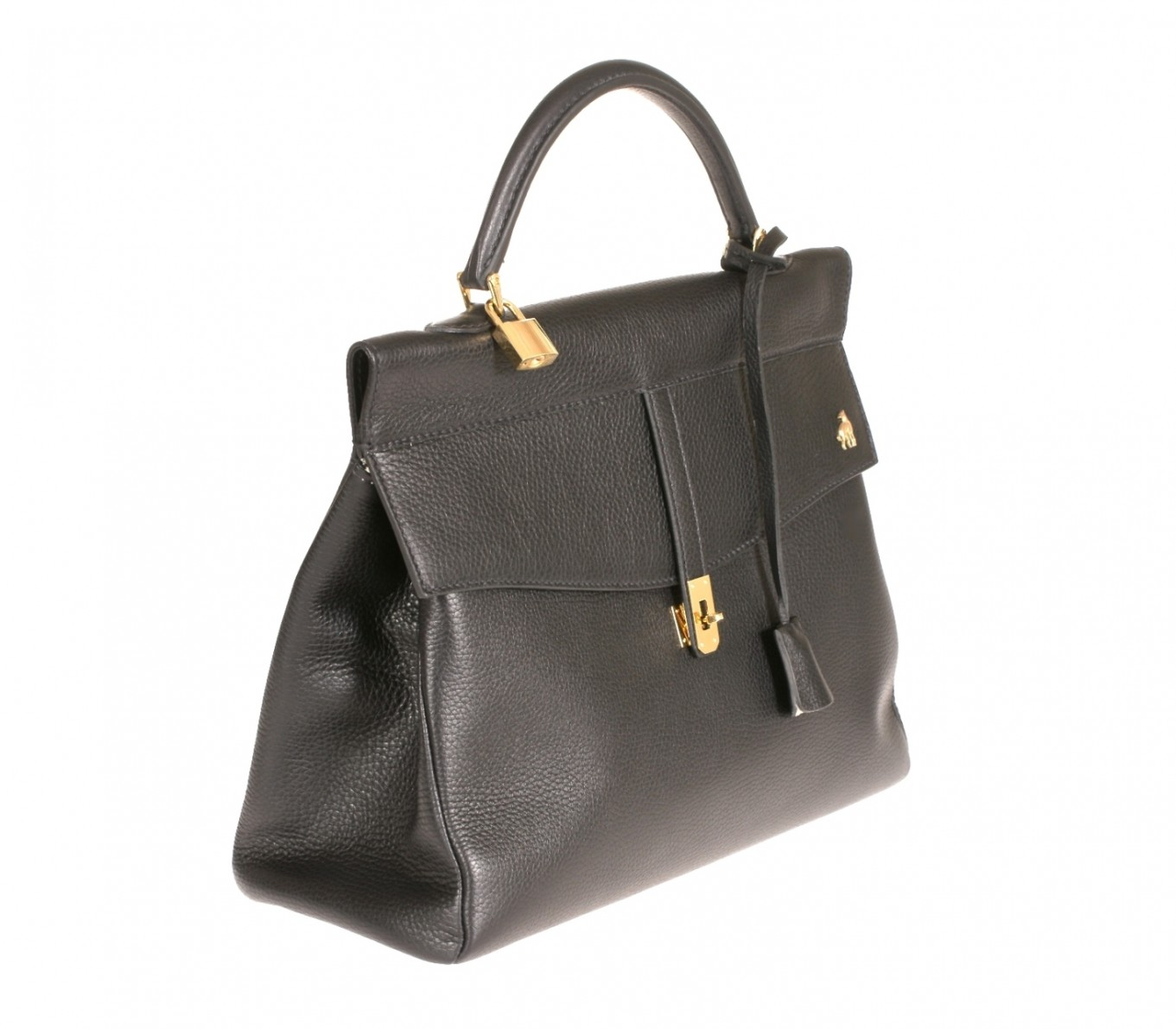 Online Leather Day Handbags Black