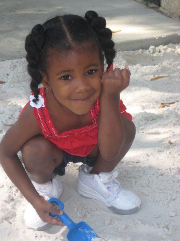 Kiana, 3, plays at the P.A. Geraci Child Development Center