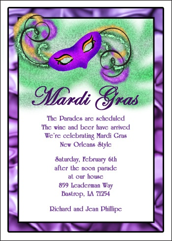 Popular Mardi Gra Mask Party Invitations Www Cardsshoppe Com Prlog