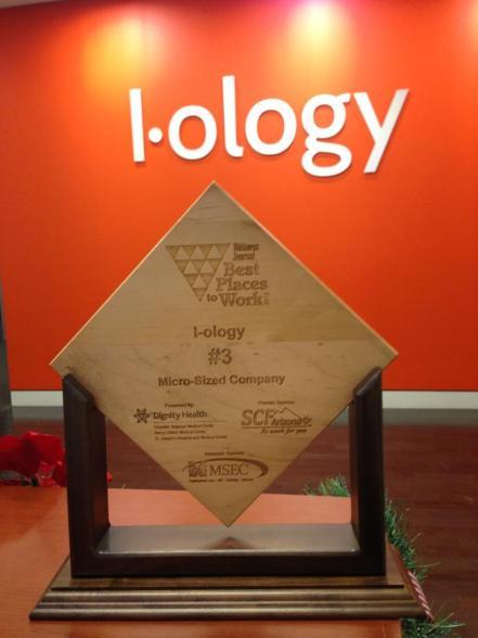 Phoenix Best Places to Work Award Web Design Development Company I-ology