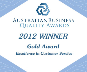 Australian Business Awards 2012 Gold Winner