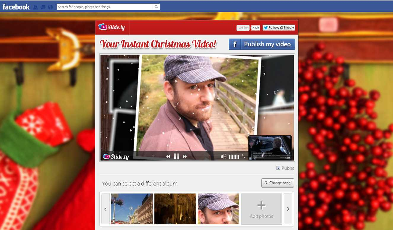 1-click Christmas Video Creator
