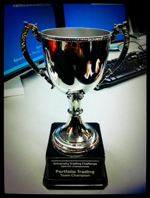Portfolio Trading Team Champion trophy
