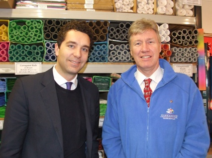 Edward Timpson with Sandy Cowen