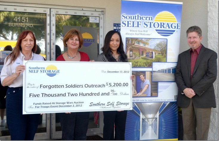 Southern Self Storage Presents Check to FSO