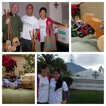 Dr. Elaine Sunga & Team dropping the toys off to Corpus Christi Catholic Church.