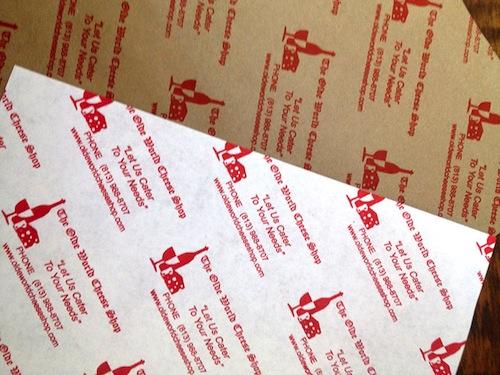 Custom-Printed Cheese Paper