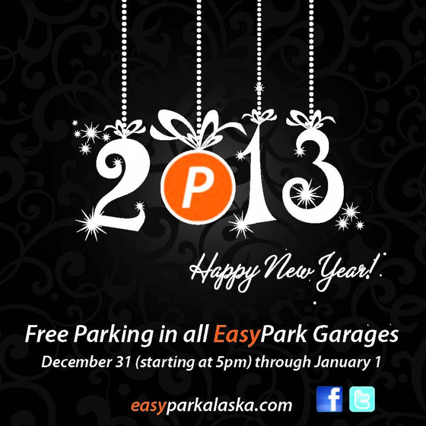 EasyPark New Year's Holiday Parking