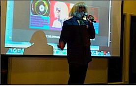 Marshall Barnes live at the OSU Wakeup Startup Copyright 2012