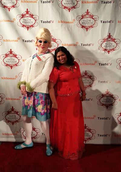 Thushari with presenter & host of Trailer Park Cooking Show Jolene Sugarbaker