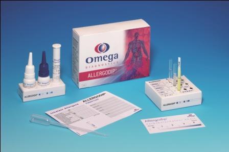 Omega's Allergodip® enzyme immunoassay