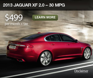 Efficiency comes alive with the new 2013 Jaguar XF 2.0 - 30 MPG Highway.
