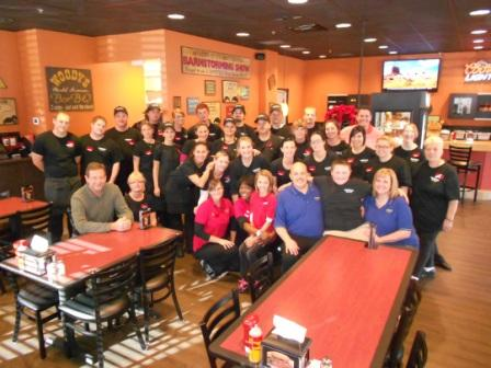 The Pagano Family and the Opening Team of Woodys Bar-B-Q of Ogden, UT