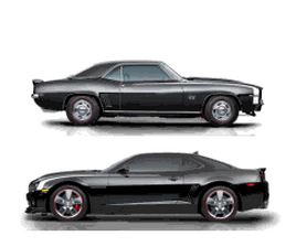 The 2012 Camaro Dream Giveaway cars.
