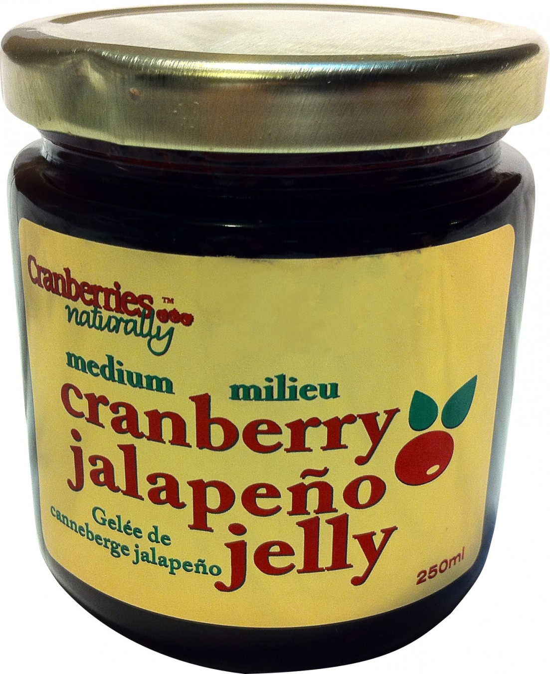 Cranberry Sauce Label made with Primera Gold Polyester Labels