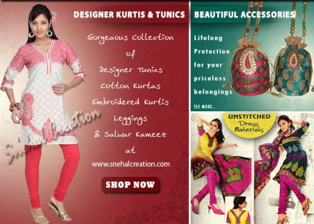 Designer Kurti, Tunics, Cotton Kurtas and Leggings Collection-2013