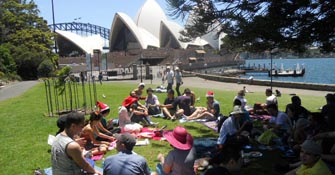 Christmas Day Picnic Lunch Sydney 2011