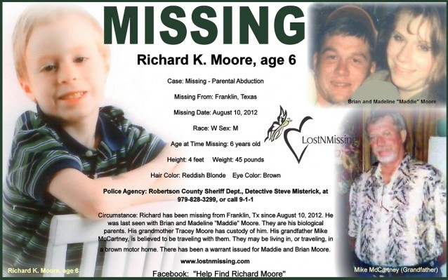 Richard K Moore - Parental Abduction - Franklin Te