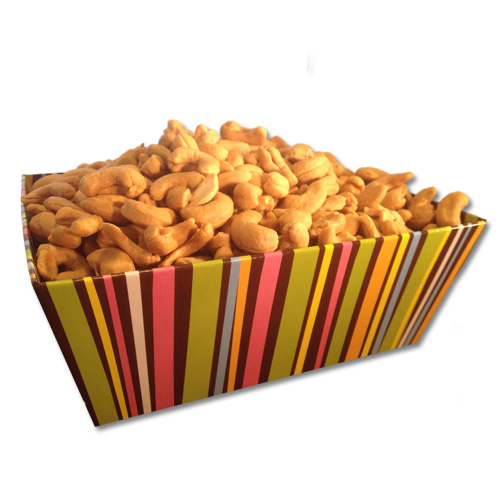 Roasted Cashews - Chocolate Stripes Event Tray