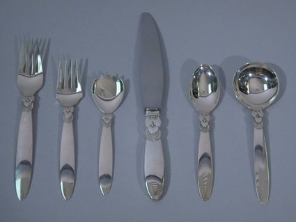georg jensen sterling silver flatware service