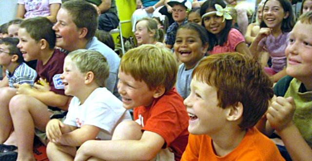 Students enjoy learning at an Act!vated School Assembly