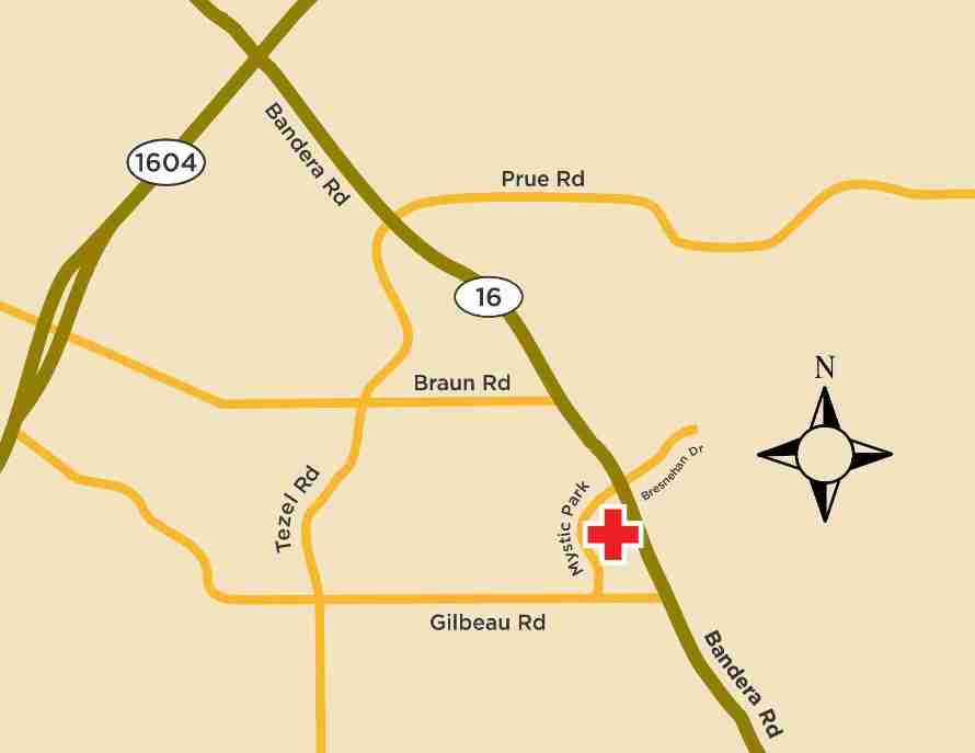 Elite Care Bandera Road Location Map