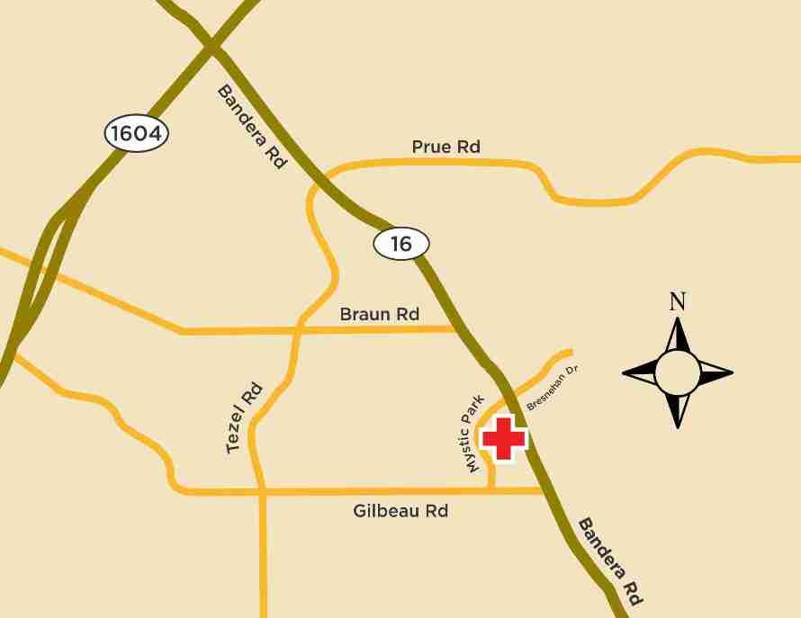 Elite Care Bandera Road Location Map