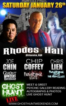 Atlanta Celebrity Ghost Hunt Event