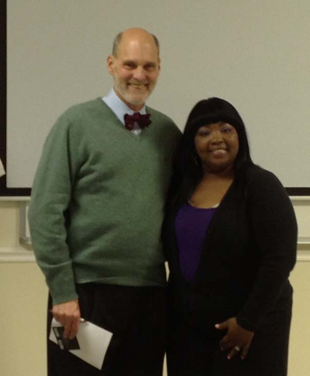President Desmer with winner Estella Dior Wright
