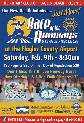 The next Rotary Race of the Runways is scheduled for February 9th, 2013.
