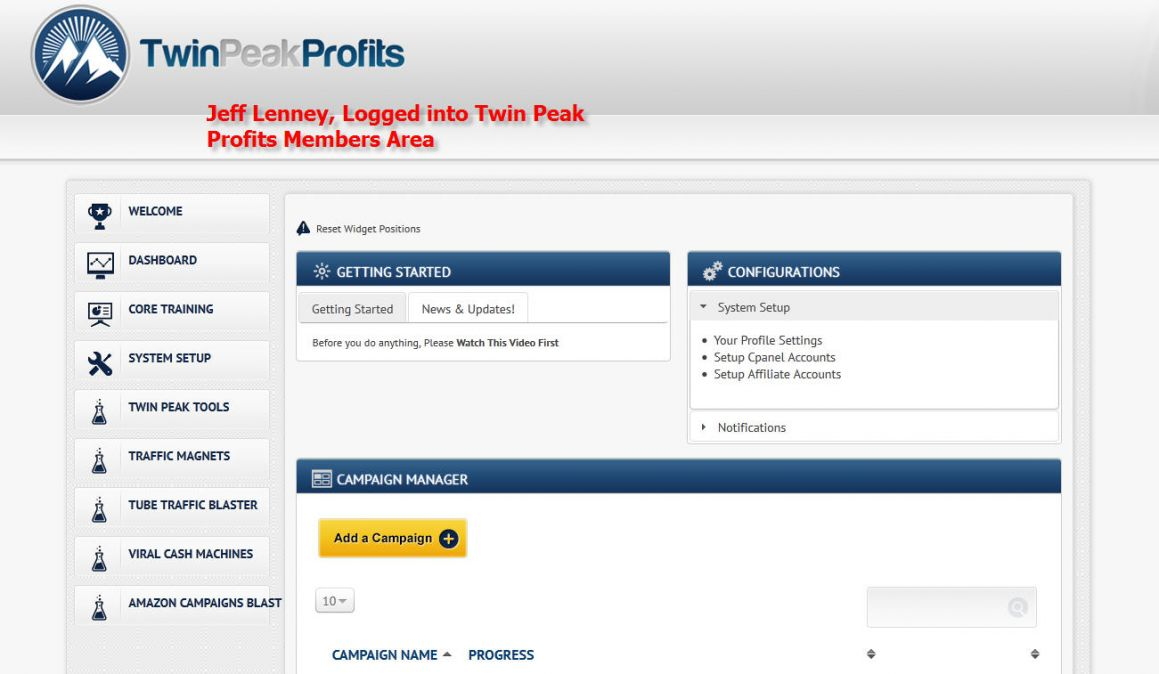 Twin Peak Profits Members Area