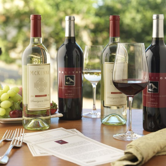 A sample of limited-production artisan wines available at ArtParty4U classes