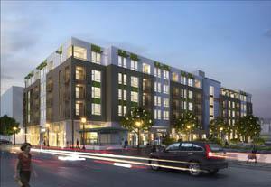 The new Carmel Loft House in Sunnyvale, Calif., is under construction.