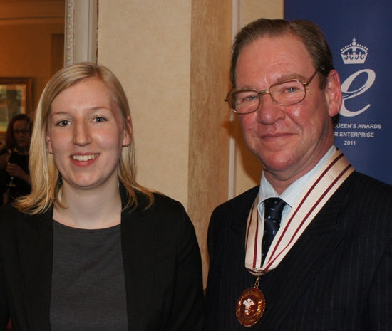 Catriona Tait from Leukaemia & Lymphoma Research with the Vice Lord-Lieutenant