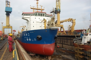JUN HAI 2 ACCOMMODTED IN DRYDOCK NO. 04 (125,000 DWT)