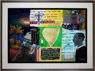 """Inspiration II,"" honoring Dr. Martin Luther King Jr., by Reginald K. Gee"
