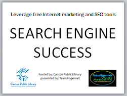 Canton Public Library SEO search engine success seminar - Team Hypernet