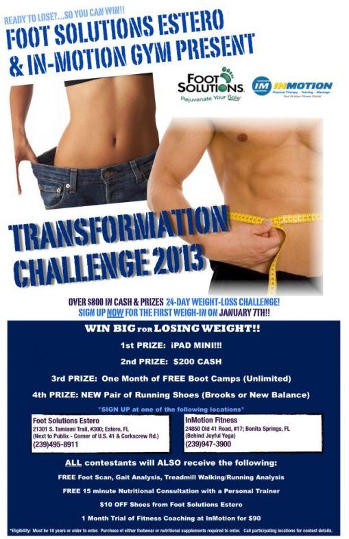 transformation challenge flyer