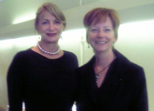 Leigh Johnson of STC and Julia Gillard, presently the Australian Prime Minister