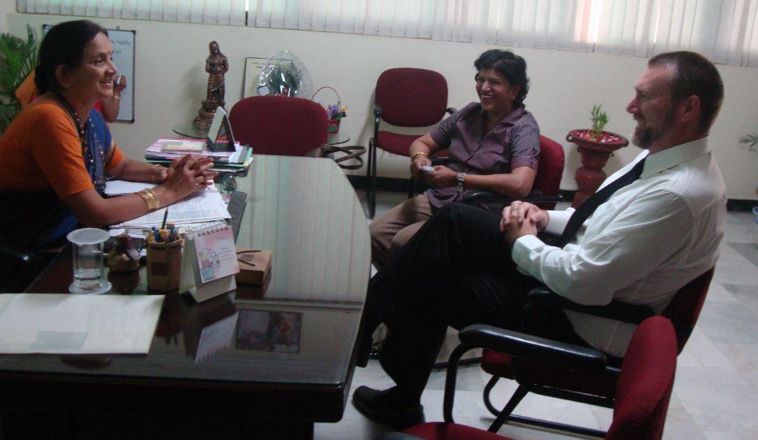 DPS Secunderabad, Dr. Mrs. T. Sudha, Mrs Laxmi Rao and Craig Hansen 3Di School