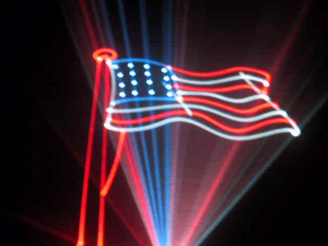 Flag designed with laser light