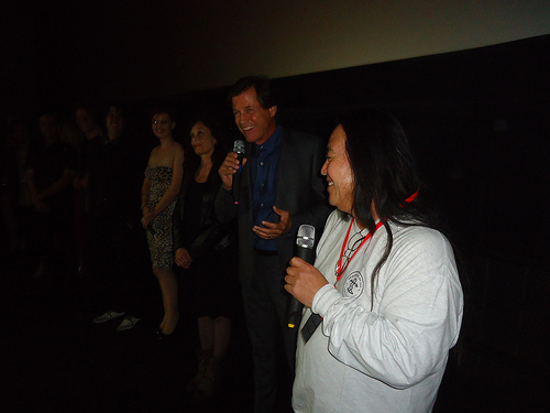 Albert Pyun and Michael Pare at the festival's screening of Road to Hell.