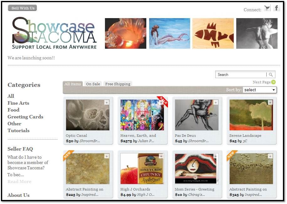 Showcase Tacoma Marketplace, A Go Local Tacoma Initiative